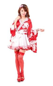 Asian Kimono med Bue