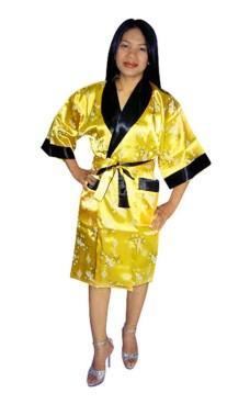 Asiatisk Morgenkåpe Unisex Kimono Morgenkåpe