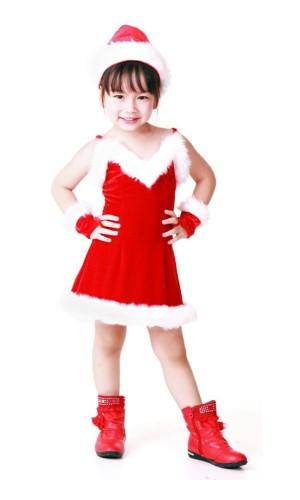 Bedårende Nisse Barnekjole Jule Barnekostymer