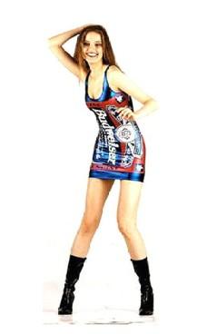 Blå Metallisk Budweiser Kjole Korte Kjoler
