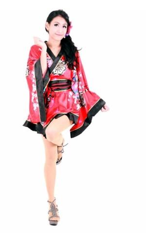 Blomster Motiv Kimono Kimono Kjoler