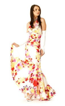 Blomstret Salsa Kjole Lange Kjoler