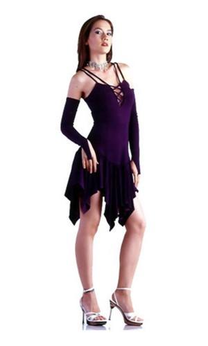 Chic Purpur Kjole Korte Kjoler