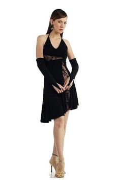 Elegant Kort Blonde Kjole Korte Kjoler