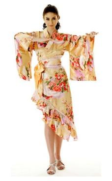 Fersken Yukata Kjole Kimono Kjoler