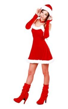 Forlokkende Nisse Kjole Jule Kjoler