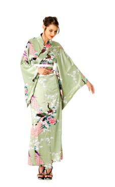 Grønn Kimono Kjole