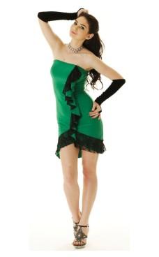 Grønn Salsakjole Korte Kjoler