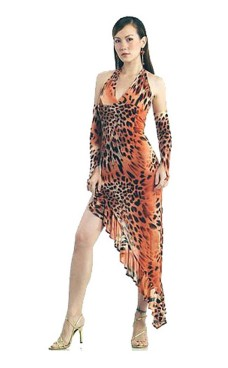 Het Leopard Dansekjole Lange Kjoler