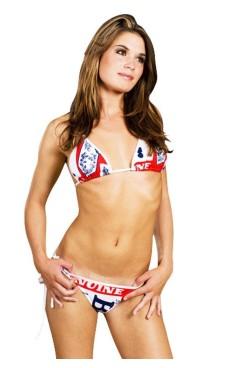 Hvit Budweiser Bikini Bikinier