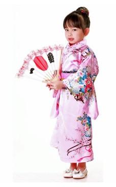 Japansk Kimono Barnekjole
