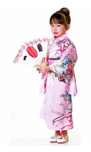 Japansk Kimono Barnekjole Kimono Barnekjoler