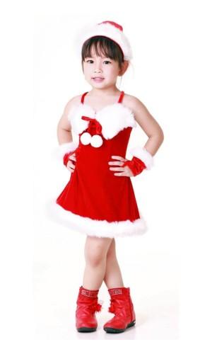 Julenissen Barnekjole Jule Barnekostymer
