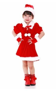 Julenissens Hjelper Barnekjole Jule Barnekostymer