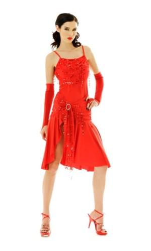 Kort Rød Salsa Kjole Korte Kjoler