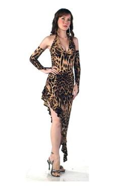 Leopard Salsa Kjole