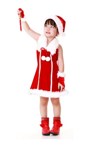 Nisse Prinsesse Barnekjole Jule Barnekostymer