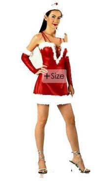Pluss Størrelse Nisse Kjole Jule Kjoler