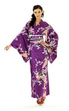 Purple Kimono Kjole