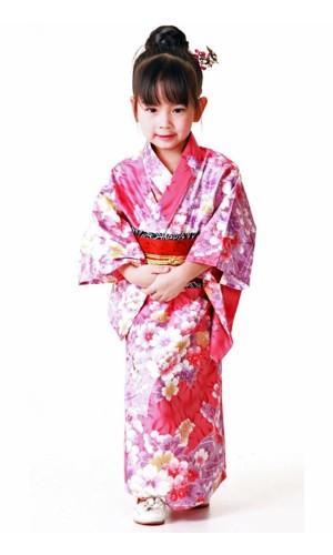 Rosa Kimono Barnekjole Kimono Barnekjoler