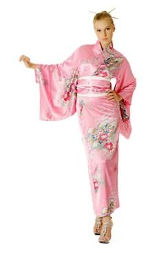 Rosa Kimono Kjole Kimono Kjoler