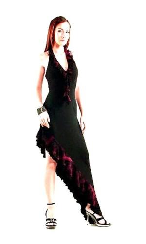 Sexy Flamenco Kjole Lange Kjoler
