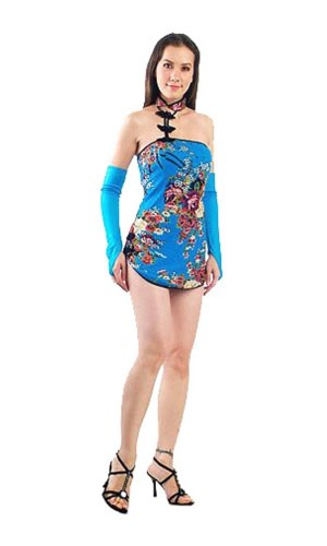 Sexy Kinesisk Minikjole Asiatiske Kjoler