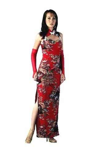 Sexy Rød Kinesisk Kjole Asiatiske Kjoler