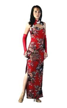 Sexy Rød Kinesisk Kjole