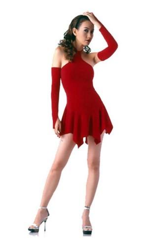Sexy Rød Minikjole Korte Kjoler