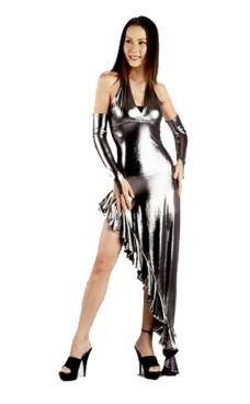 Sexy Sølv Kjole Lange Kjoler