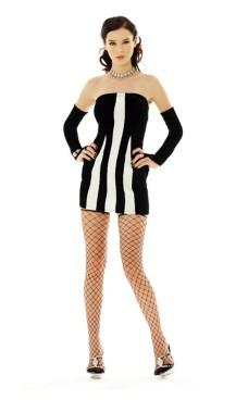 Sexy Zebra Kjole Korte Kjoler