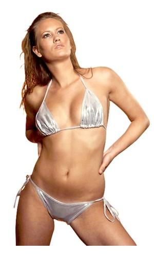 Skimrende Silver Bikini Bikinier