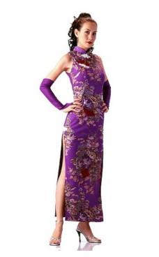 Skjønn Lilla Cheongsam Asiatiske Kjoler
