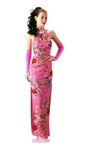 Skjønn Rosa Cheongsam Asiatiske Kjoler