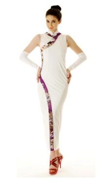 Stilig Hvit Asiatisk Kjole Asiatiske Kjoler