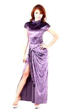 Stilig Lavendelblå Kjole