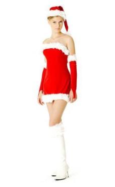 Stroppeløs Nisse Kjole Jule Kjoler