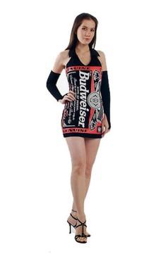 Svart Budweiser Kjole Korte Kjoler