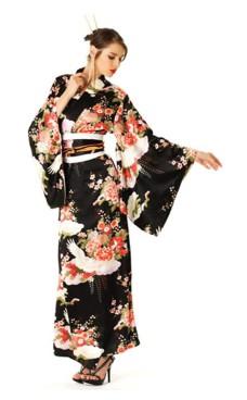 Svart Kimono Kjole