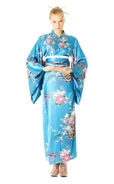 Turkis Kimono Kjole