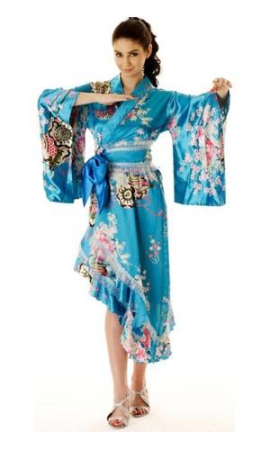 Turkis Yukata Kjole Kimono Kjoler