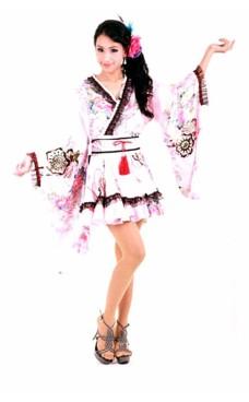 Vakker Rosa Kimono Kimono Kjoler