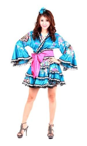 Yukata Minikjole Kimono Kjoler